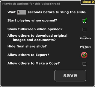 Image illustrating the Playback options.