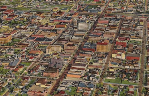 Air View of Albuquerque, New Mexico.