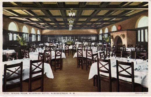 Dining Room, Alvarado Hotel, ca. 1940