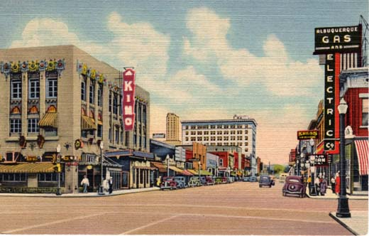 Central Ave, looking east, Albuquerque, New Mexico