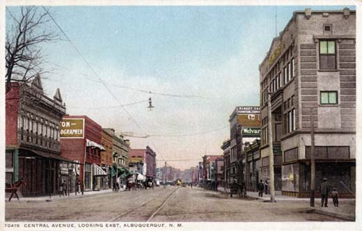 Central Avenue, Looking East, Albuquerque, N M