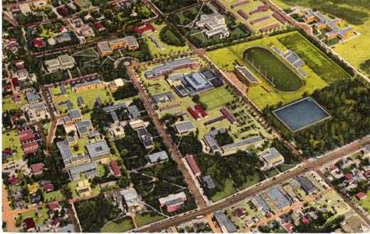 Air View of University of New Mexico, Albq., NM