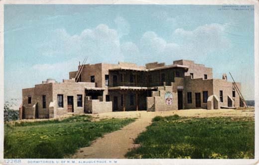 Dormitories of U of N. M. Albuquerque N M
