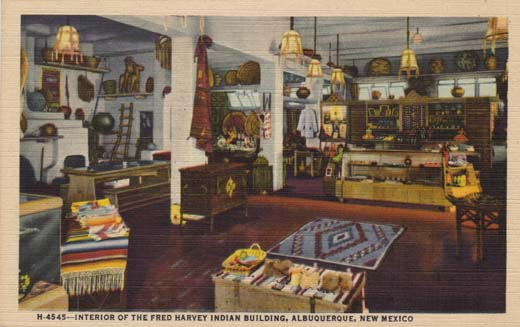 Interior of the Fred Harvey Indian Building,