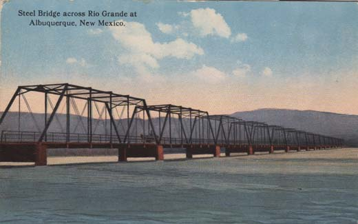 Steel Bridge across Rio Grande at Albuquerque, New Mexico