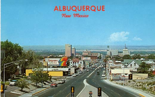 Albuquerque skyline, as seen from the Coronado Freeway