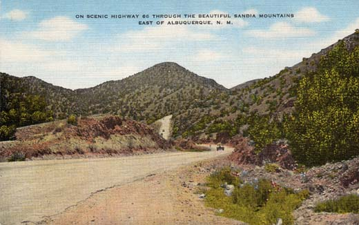 On Scenic Highway 66 Through the Beautiful Sandia Mountains East of Albuquerque, N. M.