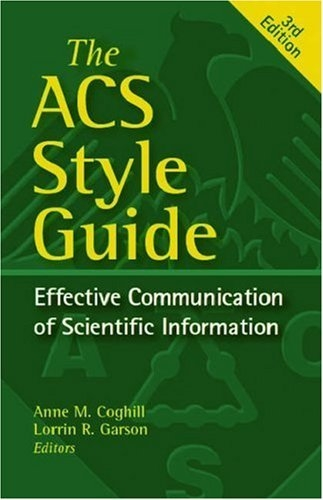 Cover page of ACS Style Guide