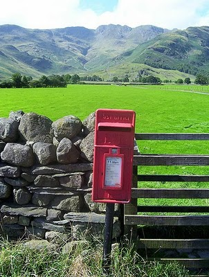 Picture of a post box in a rural area