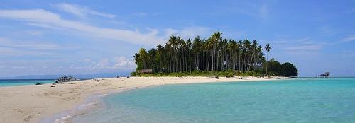Photo of a tropical island