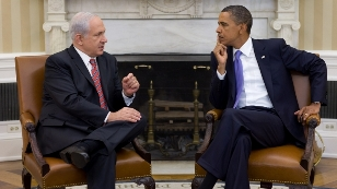 Netanyahu/Obama Whitehouse photo