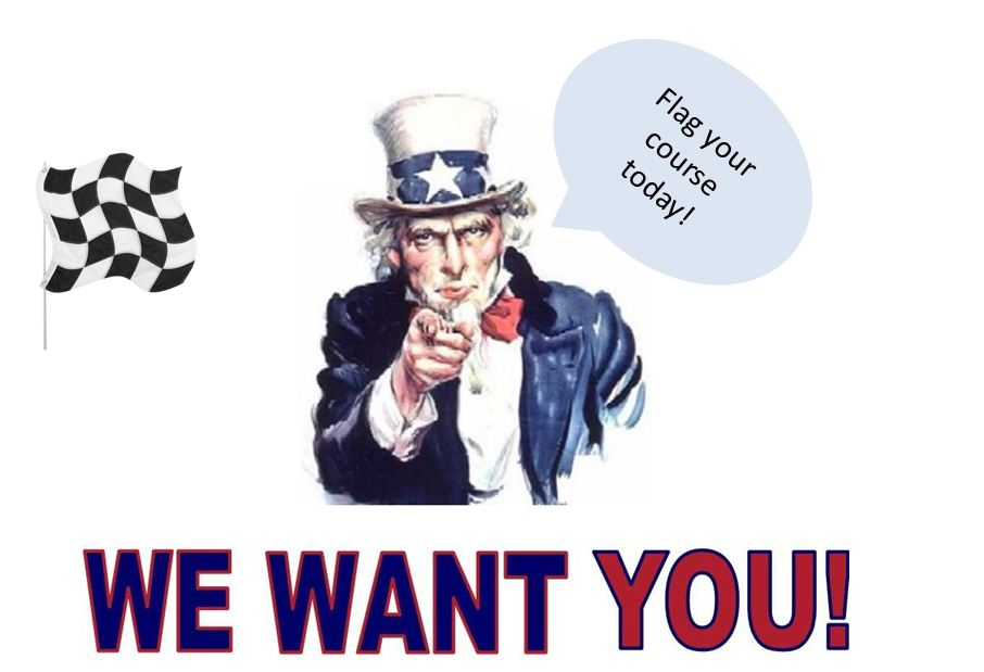 Uncle Sam wants you to flagg your course today