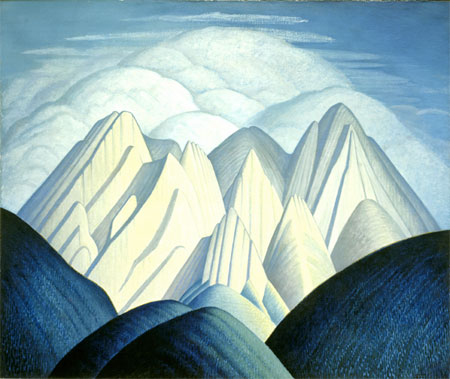 Untitled (Mountains near Jasper), c.1926-30, courtesy Mendel Art Gallery, Saskatoon.