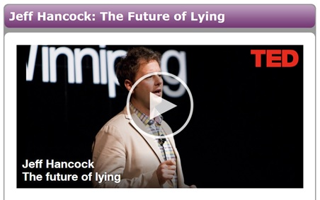 Futre of Lying TED talk