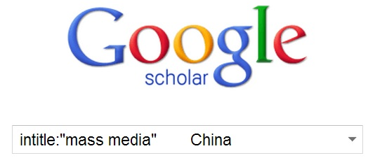 Link to Google Scholar ... using intitle: to focus Google Scholar searches