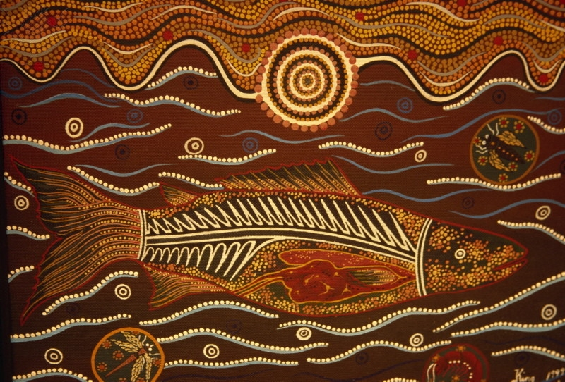 Painting From The Dreamtime, Aboriginal Art, Australia, Pacific. [Photography].