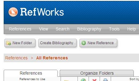 Screen dump showing new folder button