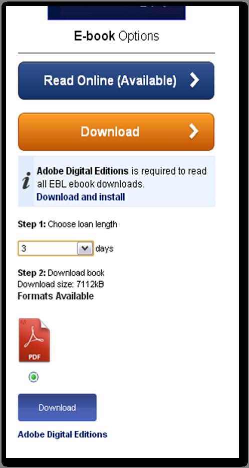 EBL downloading ebook options image