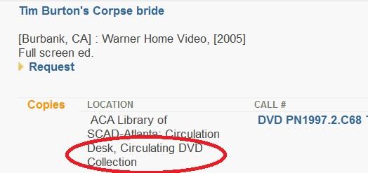 circulating DVD collection