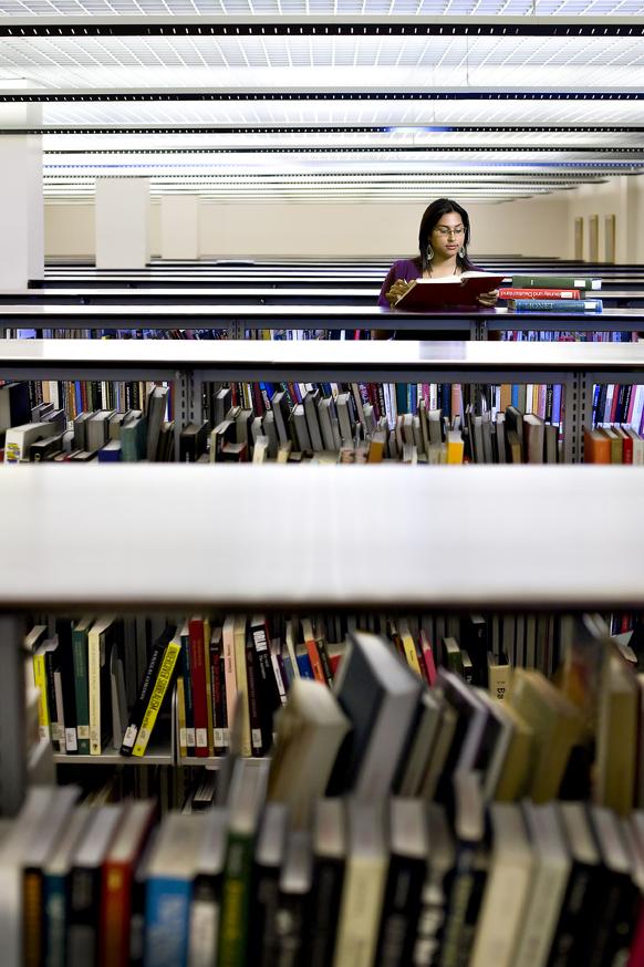 Jen Library - reading