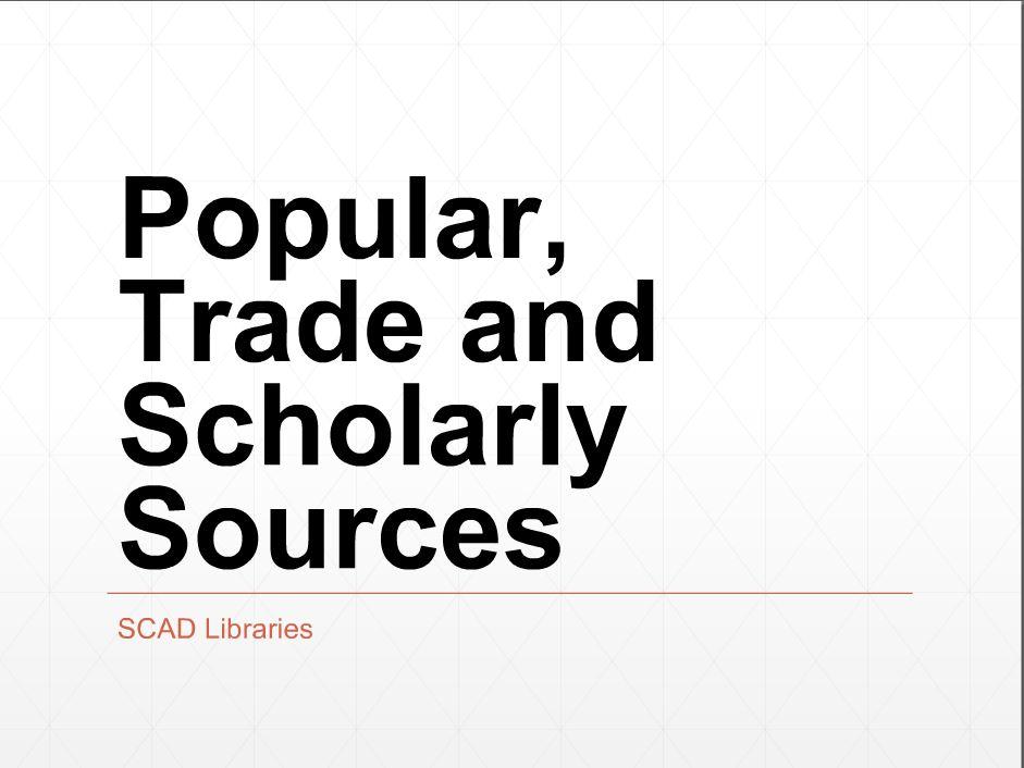 popular, trade and scholarly screenshot