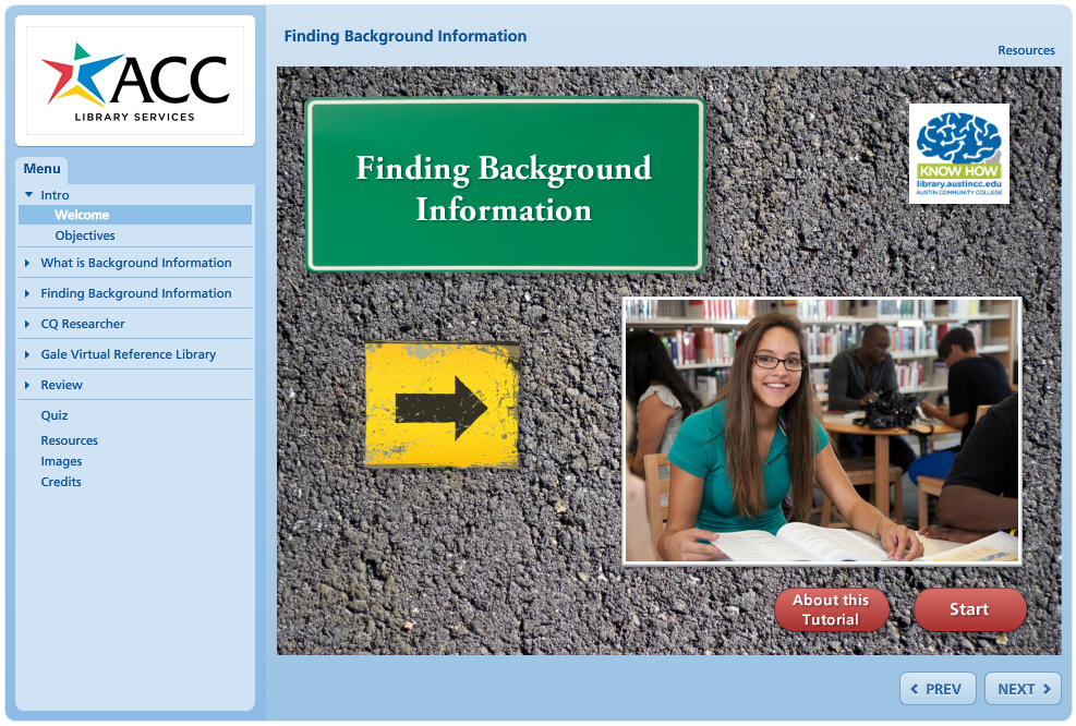Finding Background Information Tutorial