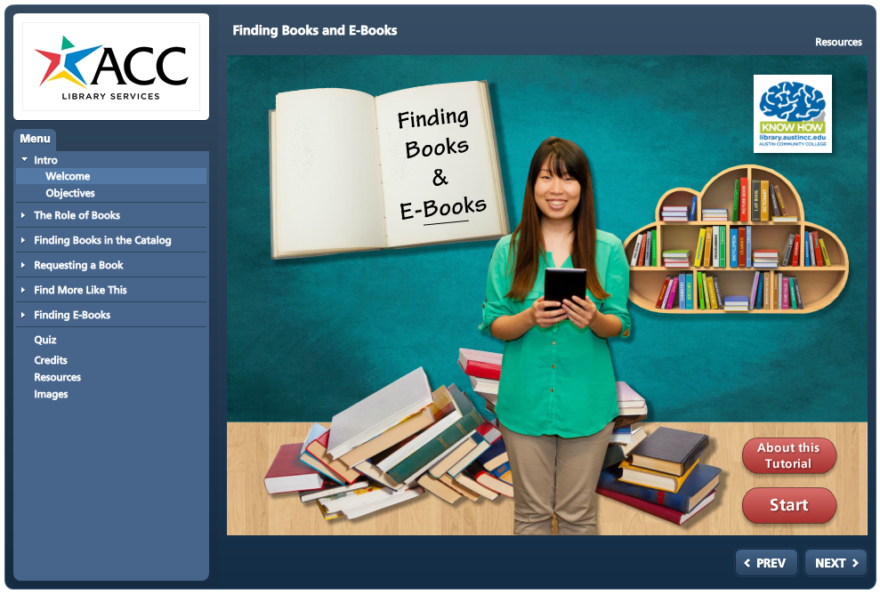 Finding Books and eBooks Tutorial Image