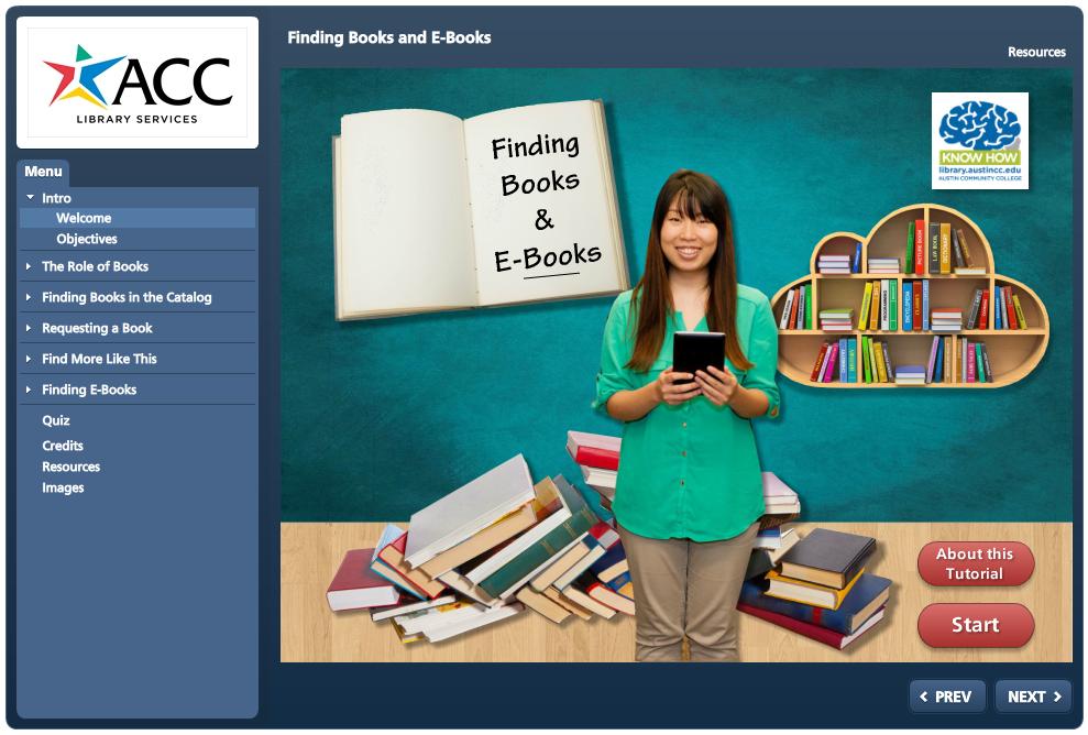 Finding Books and E-Books Tutorial
