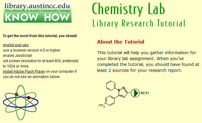 Chemistry Lab Tutorial