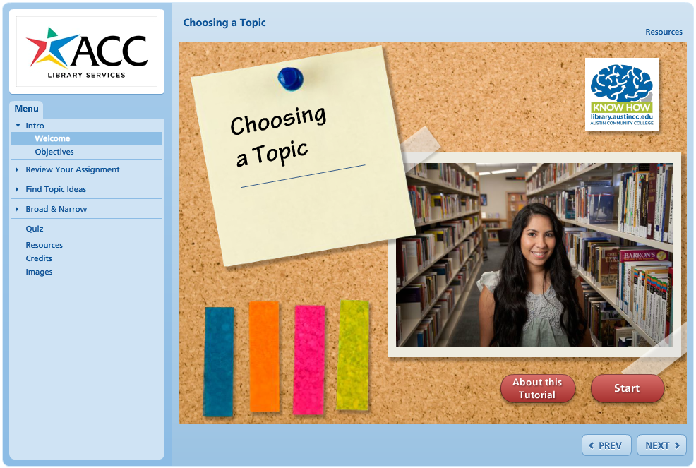 Choosing a Topic Tutorial