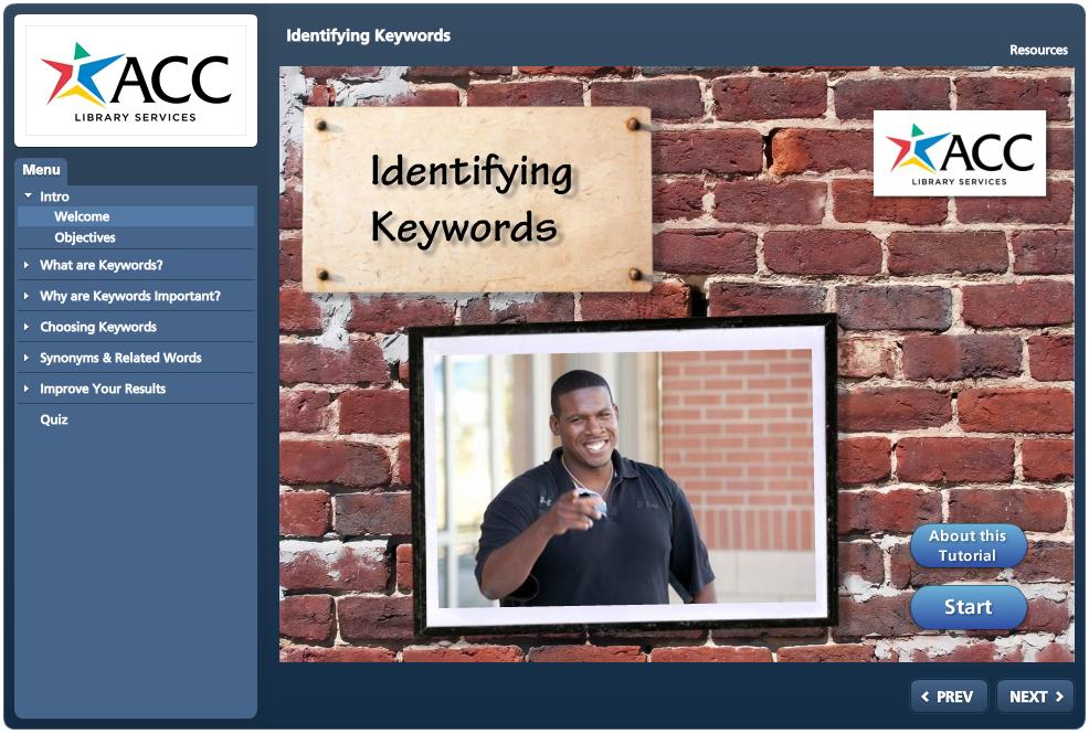 Identifying Keywords Tutorial