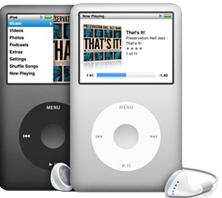Apple iPod, iPod classic, iPod mini, iPod nano, and iPod Shuffle 2nd Generation or newer