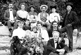 Family and friends on Dominion Day, VPL #7236, July 1, 1905, Philip Timms.