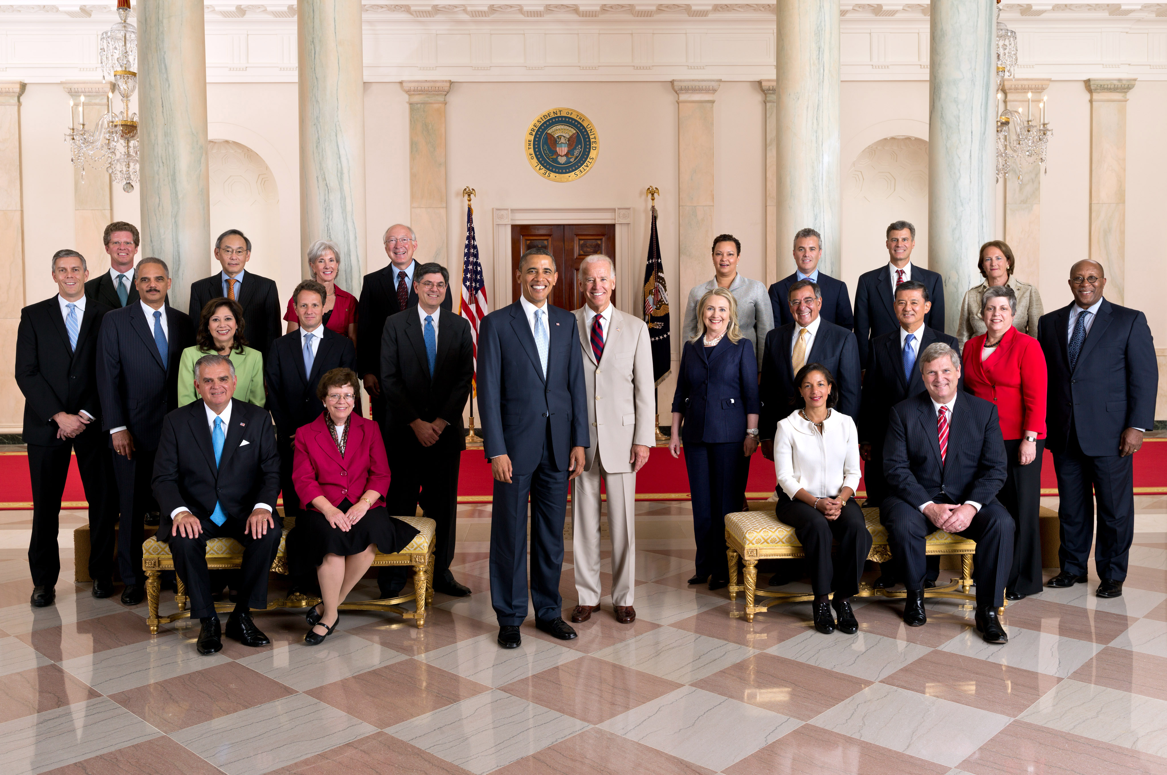 President Obama with his Cabinet
