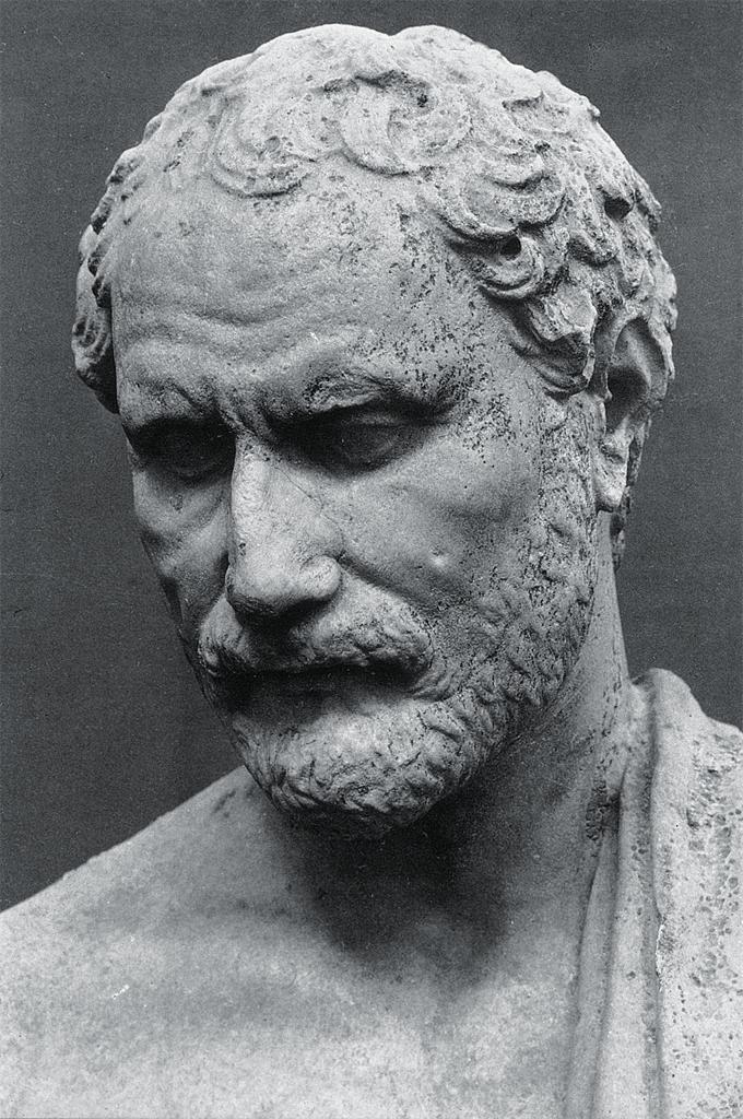 Portrait statue of Demosthenes, Polyeuktos 290 b.c.