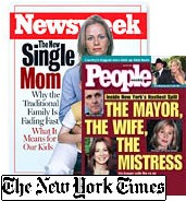 Newsweek and People magazine covers