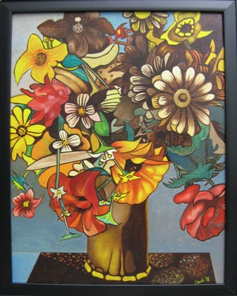 Vase of flowers by Henry Cade, Jr.