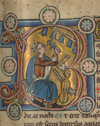 detail from illuminated medieval manuscript page