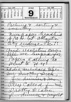 page from desk diary of Margaret Sanger, 1937