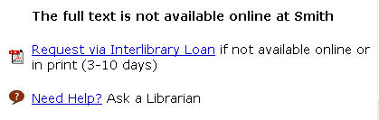 SC Links Menu Interlibrary Loan