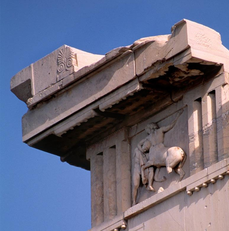 Parthenon, South architrave and frieze, AThens, Greece, photo by Susan Silberberg-Pierce, Canyonlights, ARTstor