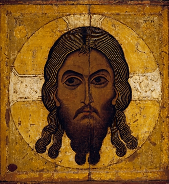 State Tretyakov Gallery, Unknown icon painter Saviour Made Without Hands  Second half of the 12th century Tempera on wood 77 х 71