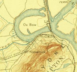 Oxbow, USGS topo map, 1886
