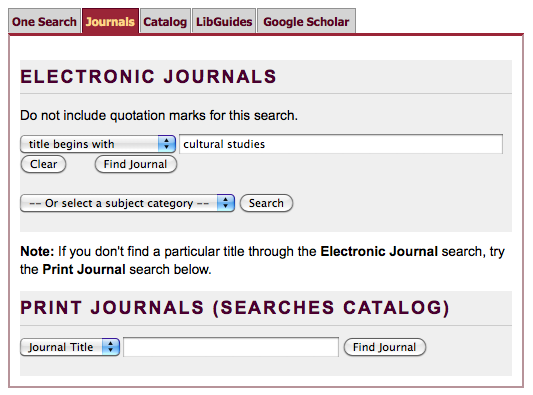 Journal Title Lookup