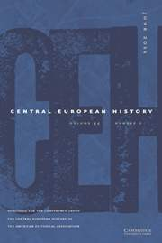 Ann issue of the journal of Central European History