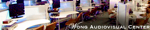 desks at Wong Audiovisual Center
