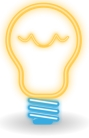 Light bulb [Manuel C. Piñeiro 2012, 'neon (classic) bulb', CC Licence: CC0 1.0 Universal, http://creativecommons.org/publicdomain/zero/1.0/, Image Source: Open Clip Art Library, http://openclipart.org/detail/172390/neon-classic-bulb-by-asincrono-172390]