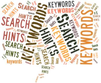Search hints - keywords [Image source: UniSA Library]