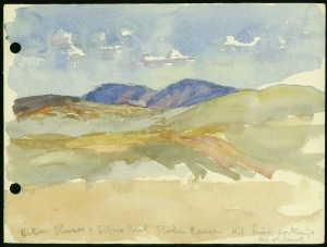 Violet Teague, 'Flinders Ranges', 1933, watercolour on paper [out of copyright, Image Source: State Library of Victoria, http://handle.slv.vic.gov.au/10381/98111]