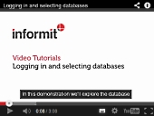 Informit Video Tutorial - Logging in and selecting databases